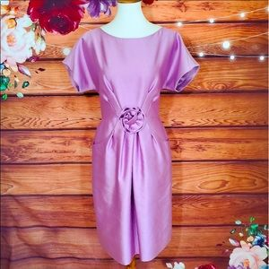 Kate Spade Silk Lilac Rosette Dress